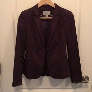 H&M deep purple blazer